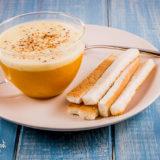 Cappuccino di zucca e funghi porcini con crema di gorgonzola