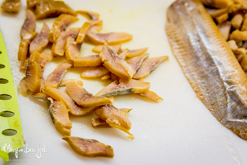 Aringa affumicata con finocchi in saor