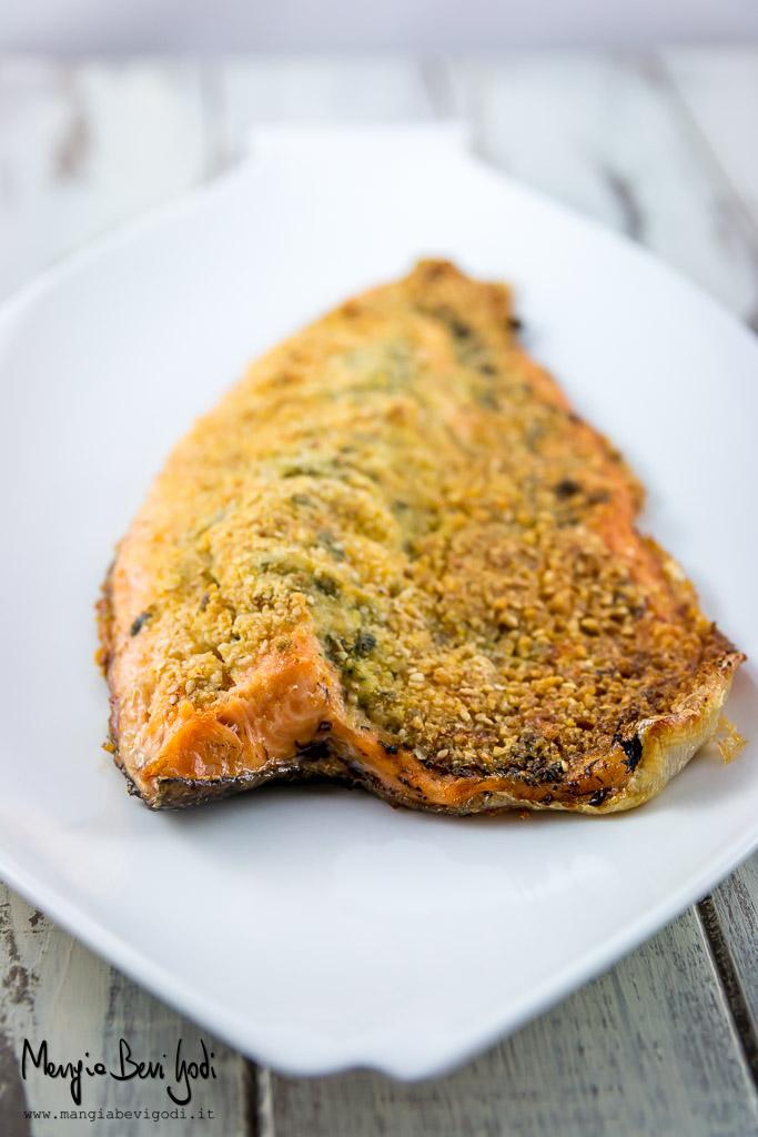 Filetto di trota in crosta di parmigiano