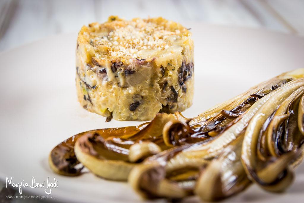 Tortini-quinoa-radicchio-gorgonzola