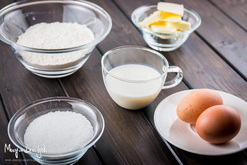 Ingredienti per preparare le crostate monoporzione