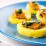 Aringa affumicata alla griglia con patate
