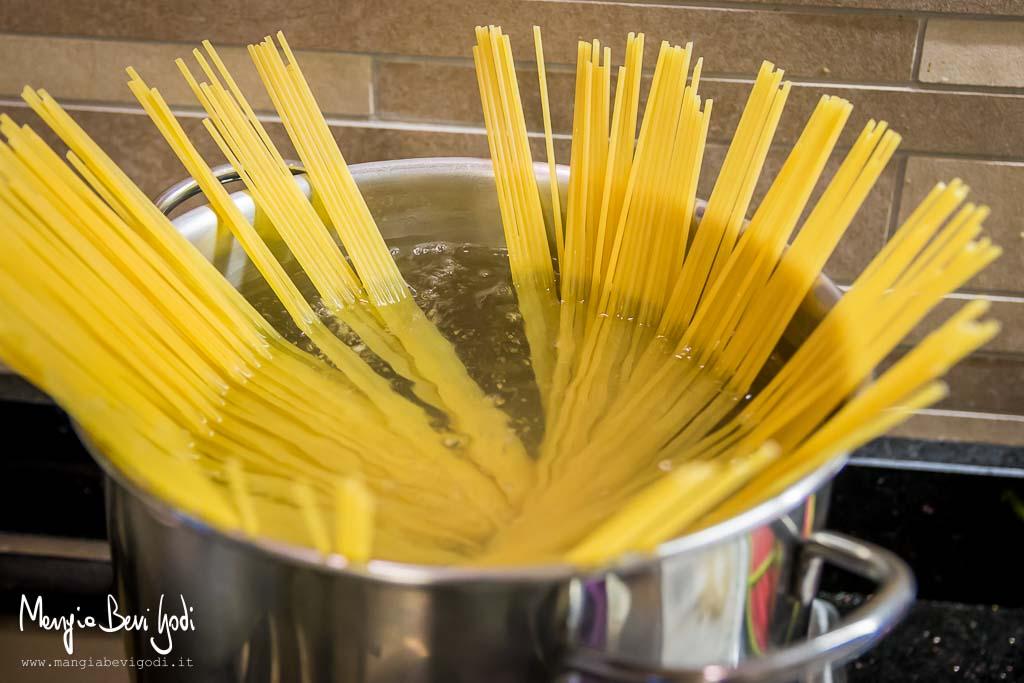Spaghetti con le vongole: cottura pasta
