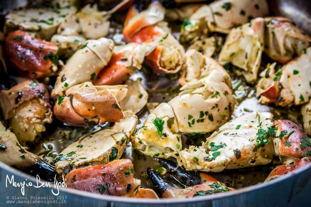 Chele di gransoporo o gransiporo con burro aglio e prezzemolo