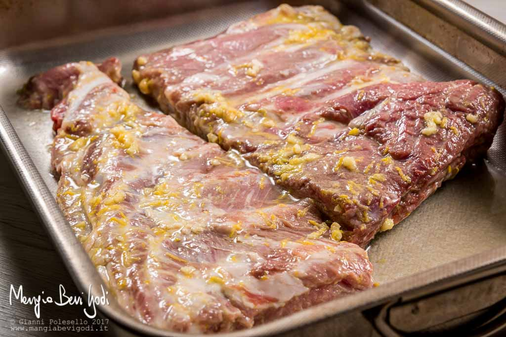 Preparazione puntine di maiale al forno