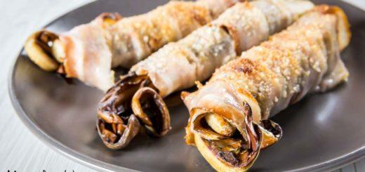 Involtini di radicchio e pancetta gratinati