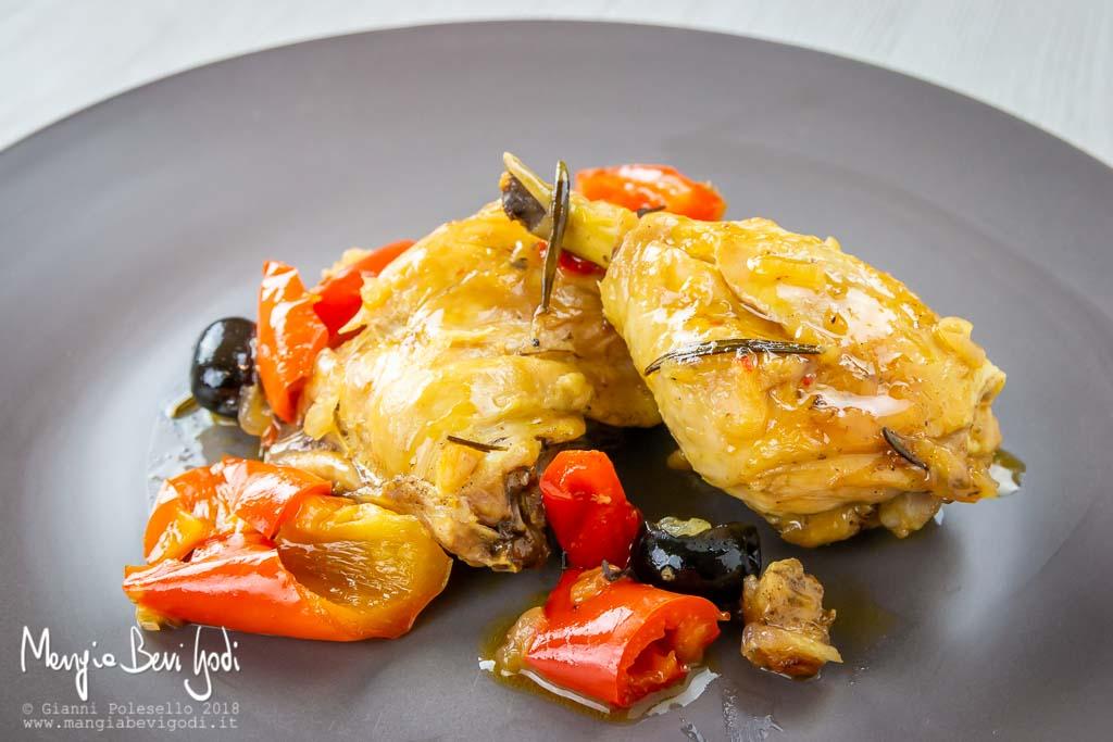 Pollo ai peperoni