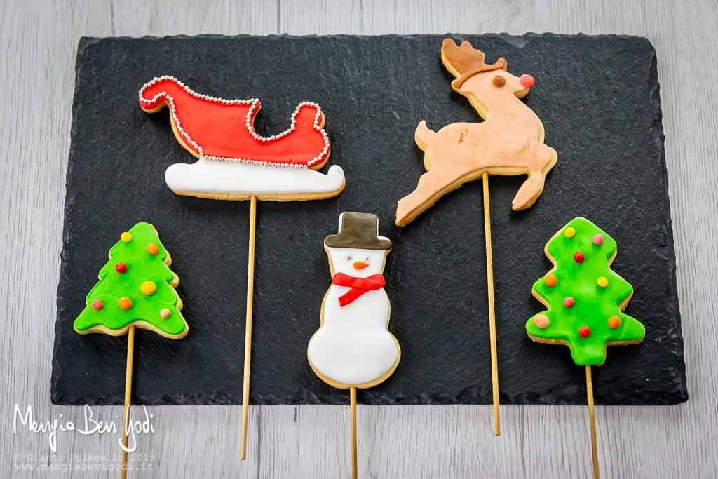 Biscotti lecca lecca natalizi