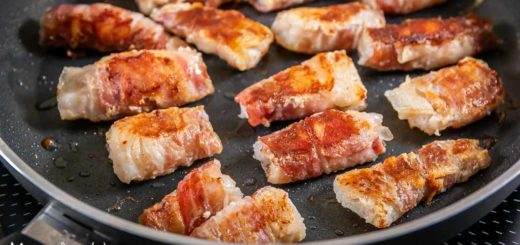 Ricetta involtini di merluzzo in padella con pancetta