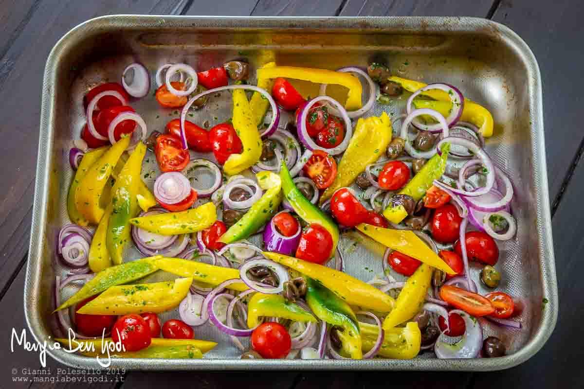 Teglia da forno con verdure