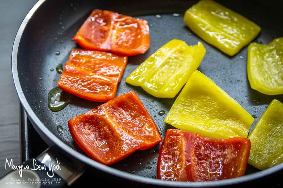 Cottura peperoni in padella