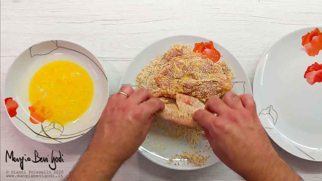 Preparazione bistecche di fesa di tacchino al forno