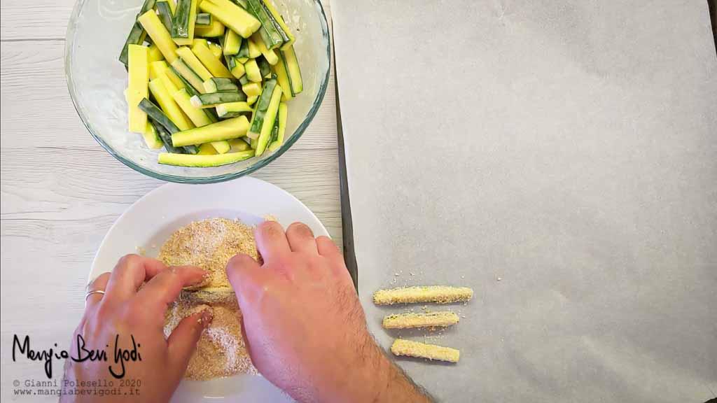 Zucchine con panatura di pangrattato