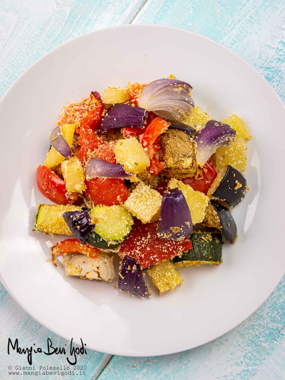 Verdure sabbiose al forno