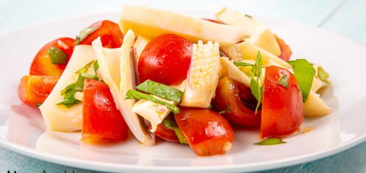 Insalata di seppie e pomodorini