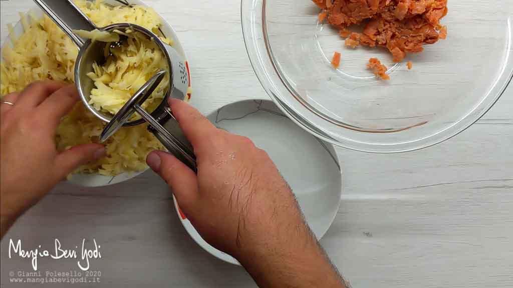 Eliminare l'acqua di vegetazione delle patate