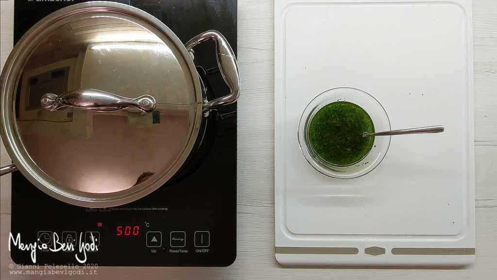 Preparazione condimento per insalata di polpo