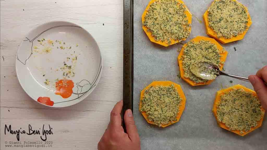 Cottura al forno zucca gratinata