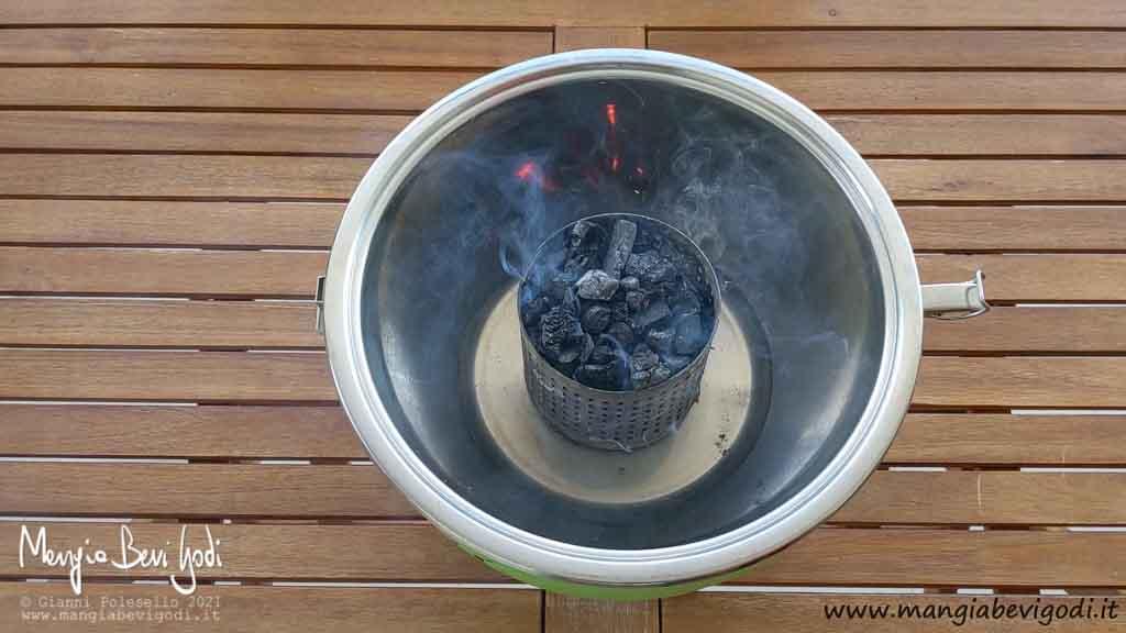 Accensione grill ventilato