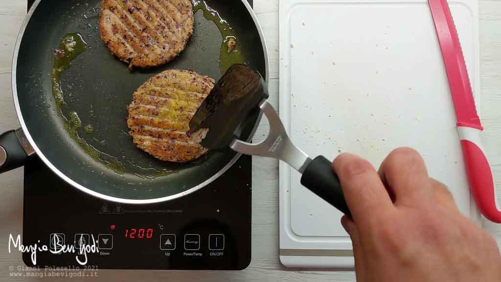 cottura burger di fagioli