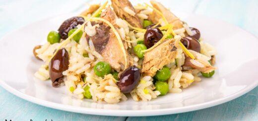 insalata di riso con sgombro e piselliinsalata di riso con sgombro e piselli