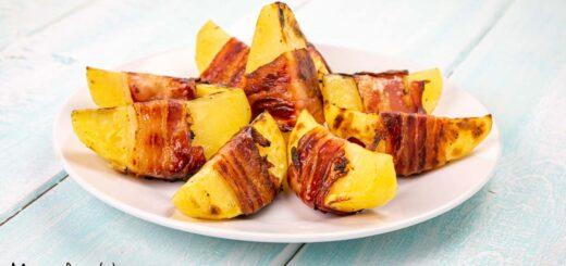 Involtini di patate e pancetta alla griglia