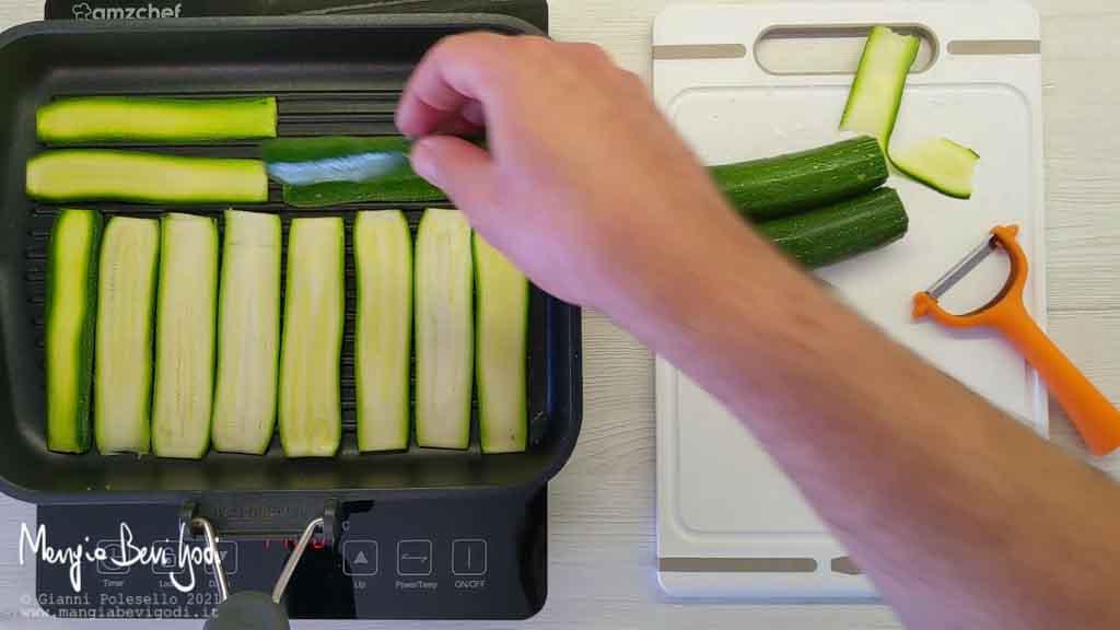 grigliare le zucchine