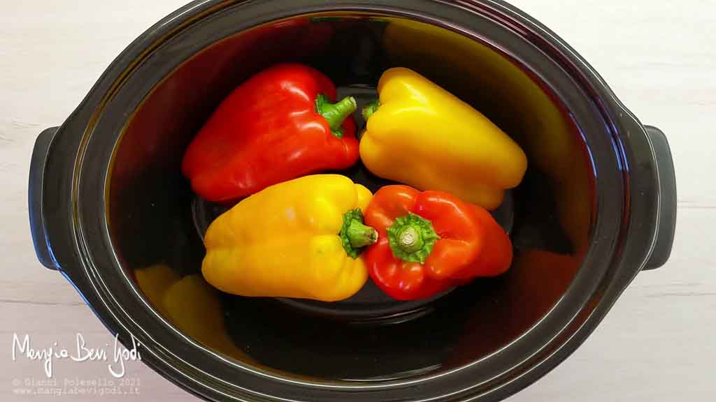 cottura peperoni in slow cooker